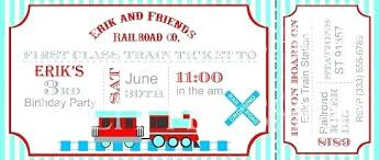 Train Ticket Invitation Template Birthday Party Invitations Plane ...