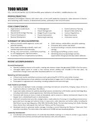 Non Profit Resume Sample Board Of Director Resume Board Of