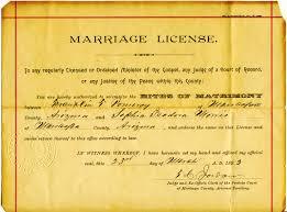 f t and dora pomeroy 73 mesa, maricopa, arizona page 2 on granny's trail on wedding license mesa az