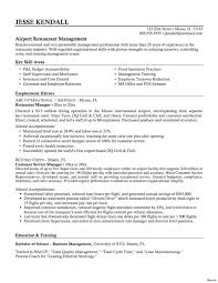 Write Resume For Restaurant Job Bar Manager Description Examples