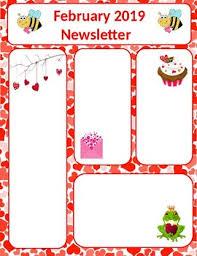 February Newsletter Template February Newsletter Valentines Day