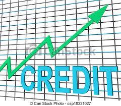 Chart Showing Increase Credit Graph Chart Shows Buy Increase Grow Debt