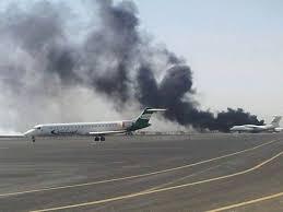 السعودية - قصف مدرجا في مطار صنعاء لمنع هبوط طائرة ايرانية