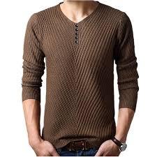 M-4XL Winter <b>Henley Neck</b> Sweater Men Cashmere Pullover ...