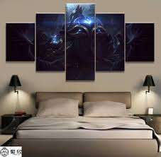 <b>5 Panel LOL League</b> of Legends Zed Game Canvas Printed ...