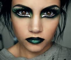 eye makeup ideas with black and green