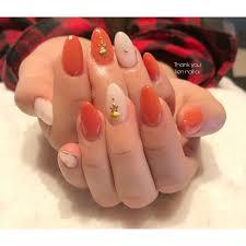 濃いめオレンジカラー Liennailai リアンネイル