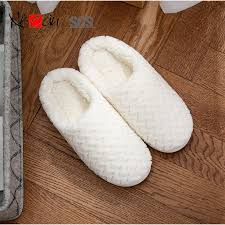 Womens Slipper Size Chart Women Slippers Fluffy Fur Slip On House Slippers Soft And
