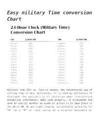 Payroll Time Calculator Military Time Conversion Chart Free Documents Download Army