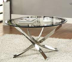 elegant black chrome coffee table