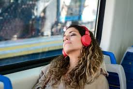 Image result for woman sleeping on train