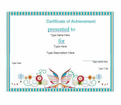Free Online Printable Certificates Of Achievement 40 Great Certificate Of Achievement Templates Free Template Archive