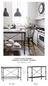 crate and barrel french kitchen island