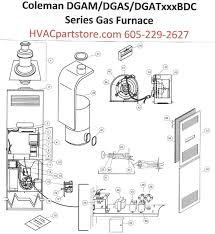 wrg 9159 pac036h1021a coleman evcon wiring diagram dgam075bdc coleman gas furnace parts hvacpartstore