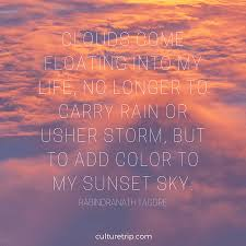 Cloud Quotes 13 Literary Quotes On Sensational Sunsets