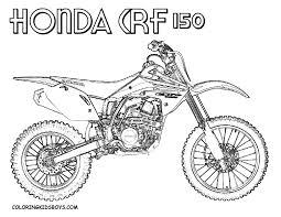 Dirt bike coloring
