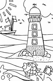Small Picture Lighthouse at Coastline Coloring Pages Gianfredanet