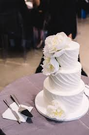 Wedding Cakes Modern White With Peony Topper Chez Wedding Venue