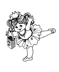 Ballet Dancer Costume Halloween Coloring Pages Free Printable