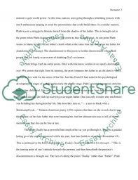 poem analysis daddy from sylvia plath research paper poem analysis daddy from sylvia plath essay example