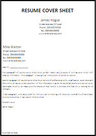 Executive Assistant Sample Cover Letter Cover Page For