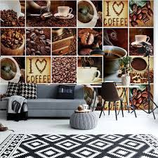 Coffee and book vintage wallpaper. I Love Coffee Squares Wall Paper Mural Buy At Abposters Com