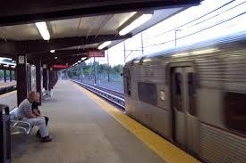 a philadelphia bound patco train arrives at woodcrest station