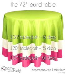 what size tablecloth for a 60 round table which tablecloths fit the round tablecloth the best