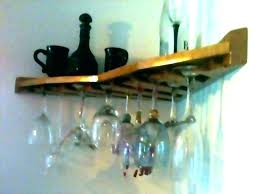 wi glass holder for shower hangers rack re wall mounted cup hanging wine shelves mount cabinet