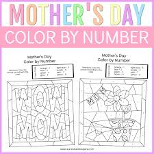 Before printing, you can change the default colors on every. Mother S Day Color By Number Free Printable Coloring Pages