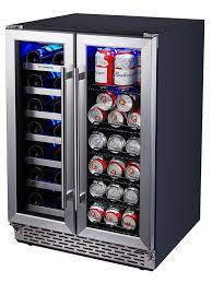 dual zone wine and beverage cooler