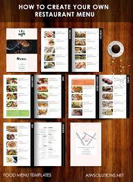 Restaurant Menu Design Templates How to create your own restaurant menudrink menu bar menu food 1