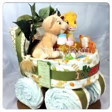 Designer Diaper Cakes Simba And Nala Bassinet Diaper Cake Created For Those Of Us