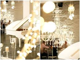 crystal chandelier reception hall why not make a statement by hiring a white grand piano and