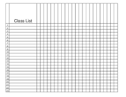 class roaster class roster template printable threeroses us