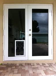 screen doors with dog door how to put a dog door in a glass door pet
