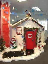 office christmas decoration ideas themes. Interesting Themes Office Christmas Decorating Themes Best Cubicle Decorations Ideas On  Intended Office Christmas Decoration Ideas Themes