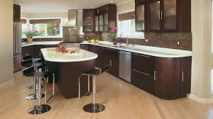 Contemporary Cherry Kitchen Cabinets In Truffle Finish