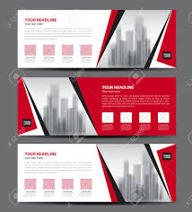 red banner template vector horizontal header advertising red banner template vector horizontal header advertising business flyer design stock vector