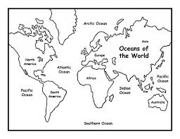 Coloring Page World Map Coloring Page 05 Teaching Maps And