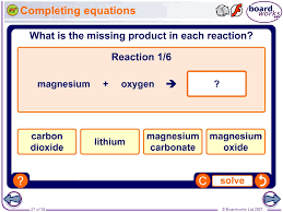 boardworks gcse additional science chemistry chemical reactions