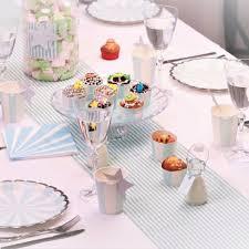 Decoration table bapteme - Fleurs de dragées