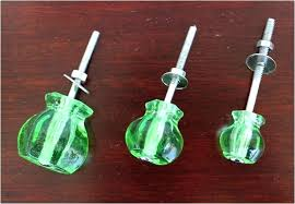 green glass cabinet knobs cupboard closet drawer handles pulls kitchen handle satellite blue