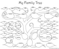 Drawing A Family Tree Template A Printable Blank Family Tree To Make Your Kids Genealogy Chart