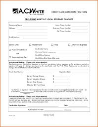 Credit Card Billing Authorization Form Template Recurring Templates