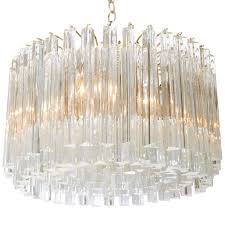 venini glass prism chandelier by camer for