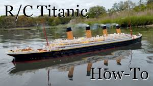 Rc Titanic Sinking With Lights R C Titanic Model How Its Made