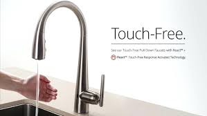 touch activated kitchen faucet. Touchless Touch Activated Kitchen Faucet H