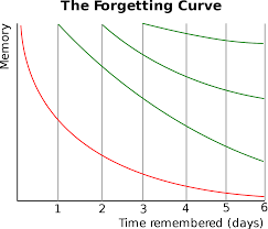 Long Term Memory Chart Forgetting Curve Wikipedia