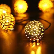 Qedertek Solar String Lights 11ft 10 LED Moroccan Ball Fairy Globe